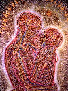 Kissing~Alex Grey