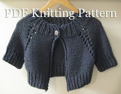 Cute little cardigan - easy to knit up, all in one piece with no sewing at the end!