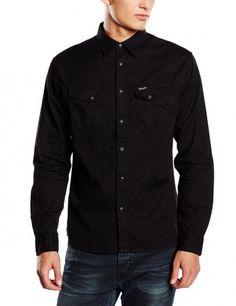 Wrangler Western Heritage Denim Shirt Regular Fit Black