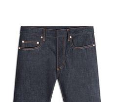 Dior Men's Raw Blue Jeans
