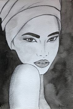 ©KA's Ink, portrait Illustrations, Ink, Ink Drawings, India Ink, Abstract Backgrounds, Paper, Illustration, Character Illustration, Ink Art