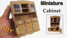 How To Make a Beautiful Miniature Cabinet  look like Realistic  - dollho...