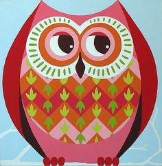 owl painting (3) by Casper James, via Flickr