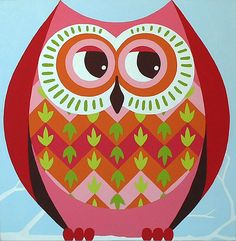 owl painting (3) by Casper James, via Flickr