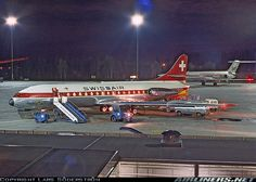 Sud SE-210 Caravelle III caught at Stockholm's Arlanda Airport.