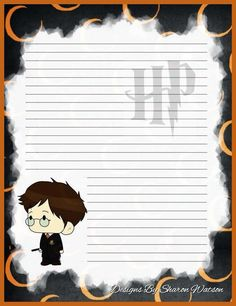 .*✿**✿*ESCRIBEME*✿**✿* Harry Potter Writing, Harry Potter Letter, Theme Harry Potter, Harry Potter Drawings, Harry Potter Diy, Classe Harry Potter, Potter School, Lined Writing Paper, Free Printable Stationery