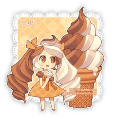 Chibi Kawaii food girl