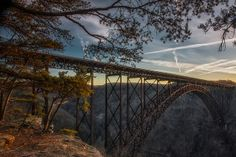 There are countless sweet shots of the bridge. Can't say we're sorry for always repinning them. #westvirginia #love #newrivergorgebridge