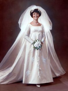 October 1970 - we celebrated our 45th Wedding Anniversary this past October. . .I'm a vintage bride!!