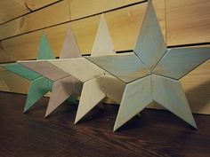 """Wooden star decor, 13"""" tall, 1"""" thick, rustic, antiqued paint job, solid hardwood, reclaimed wood, weathered, simple, reclaimed wood by StarsAndPipes on Etsy Rustic Decor, Farmhouse Decor, Handmade Wooden, Handmade Gifts, Wooden Stars, Star Decorations, Antique Paint, Pipes, Hardwood"""