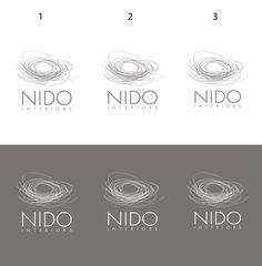 Looking for an abstract nest graphic with modern text to describe NIDO Interiors by Emma Nema