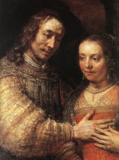 "Rembrandt's son, Titus, and his daughter-in-law as portrayed in ""The Jewish Bride"" (Detail)"