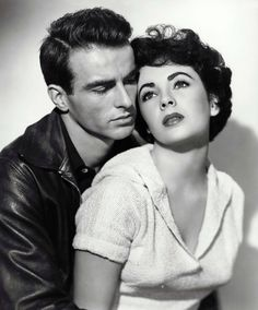 """Montgomery Clift and Elizabeth Taylor in A Place in the Sun"""", 1951                                                                                                                                                     Más"""