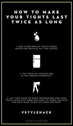 Super Tip: So halten Strumphosen länger!!