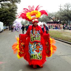 It is a special treat to see Mardi Gras Indians on Mardi Gras Day.