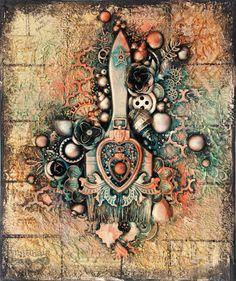 Finnabair: Art Celebration - Altered Brush Collage