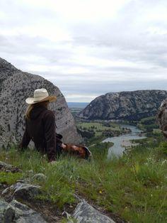 Overlooking the beautiful Sun River Canyon, Augusta, Montana