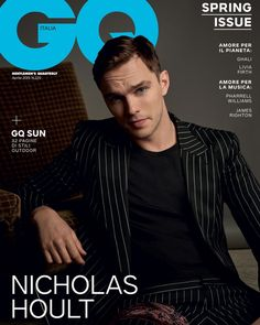 Nicholas Hoult covers GQ Italia April 2019 by Michelangelo di Battista - Nicholas Hoult covers GQ Italia April 2019 by Michelangelo di Battista Published on in Cover by Maximilian ''The Favourite'. Michael Angarano, Michael Cera, Nicholas Hoult, Lily Collins, Gq Magazine Covers, James Righton, Hot Guys, Eye Candy, Cover Male
