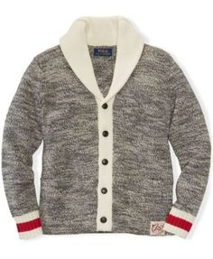 Ralph Lauren Boys\u0027 Shawl-Collar Cardigan Sweater