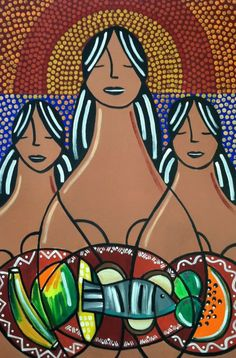 La Ofrenda/The Offering - original 24x36 painting. $700.00, via Etsy.   Puerto Rico, Hispanic Heritage Month, art & gifts. Free exhibit http://prlog.org/11938982 'til Oct 10th #DC #VA #MD