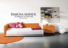 Hakuna Matata It Means No Worries Wall Decal - The Lion King - Quote - Living Room - Bedroom - Kids Room - Baby Room - High Quality Graphic (19.00 USD) by TipitDesigns