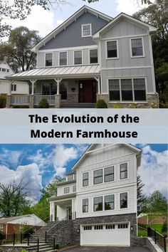 Take a deep dive into the wildly popular modern farmhouse style and see how to create the look with James Hardie products. Home Exterior Makeover, Exterior Remodel, Modern Farmhouse Exterior, Modern Farmhouse Style, Exterior House Colors, Exterior Design, Exterior Paint, James Hardie, Barn Renovation