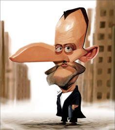 Caricatura de Jean Reno