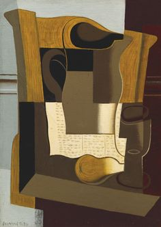 Juan Gris 1887 - 1927. LE BROC. Oil on canvas 46 by 33 cm. Painted in September 1920. Sotheby's, THE COLLECTION OF A. ALFRED TAUBMAN
