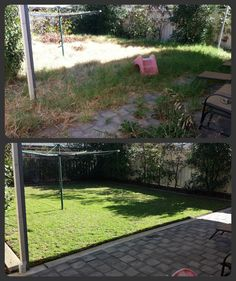 Lawn Mowing, Edging, Weed Trimming, Spraying, Pruning and General Tidy. Less than 5 months of regular monthly maintenance makes a HUGE difference.  Before pic 18/3/13 - After pic 01/8/13  Regular Maintenance is the key!  What can Trusted do for you?