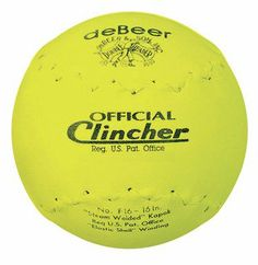 "Debeer"" Specialty Softball *16"" *Yellow - http://www.closeoutball.com/softball-closeout-sale-discount-free-shipping/debeer-specialty-softball-16-yellow/"