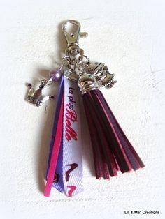 """Bijou de sac, grigri, Lili et Ma* Créations """"La plus belle"""" : Porte clés par lili-et-ma-creations"""