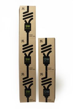 Packing design // Some nice looking light bulb packaging Graphic Design Tools, Box Design, Cardboard Packaging, Pretty Packaging, Packaging Design Inspiration, Brand Packaging, Light Bulb, Package Design, Creative