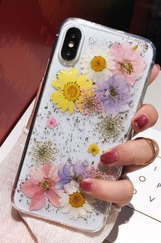 Luxe Pressed Flower Protective Phone Cases For iPhone XS - Iphone XS - Ideas of Iphone XS for sales. - Available for iPhone 6 iPhone iPhone Plus iPhone 7 iPhone 7 PlusiPhone 8 iPhone 8 Plus iPhone xiPhone xsiPhone xs max and iPhone XR. Iphone 6 Plus Case, Diy Phone Case, Iphone 8 Cases, Iphone 11, Phone Covers, Cute Cases, Cute Phone Cases, Iphone Shop, Modelos Iphone