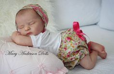 Scarlett reborn baby doll by Bonnie Brown reborned by Mary Anderson Dolls