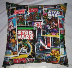 New * STAR WARS * COMIC BOOK COVER * COTTON Fabric PILLOW Handmade in the U.S.A.