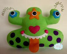 Felt Monster, Dinosaur Stuffed Animal, Stuffed Animals, Animal Pillows, Doll Clothes, Sewing Toys, Rag Dolls, Christmas Ornaments, Holiday Decor