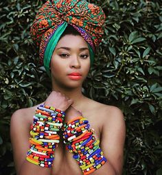 There is no such thing as too many bangles. RP @fezokuhle | photo by @accordingtojerri #african #bangles #beads #accessories #fashion #headwraps #turban #prints #africainspired #africanfashion #africanfabrics #blackisbeautiful #beauty #instafashion #apif #apifrocks