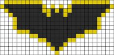 Perler Beads Batman Logo Batman dark knight perler bead