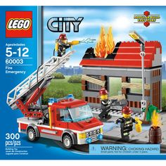 Jump out of the fire truck and extend the ladder to reach the charred roof and flame elements. Put out the fire from above, then cut through the door and douse the flames with the fire extinguisher. | eBay!