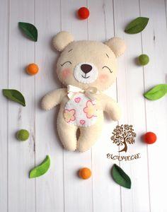 """Купить Игровая игрушка из фетра """"Медвежонок"""" - фетр, игрушки из фетра, фетровые игрушки, мишка, медведь"""