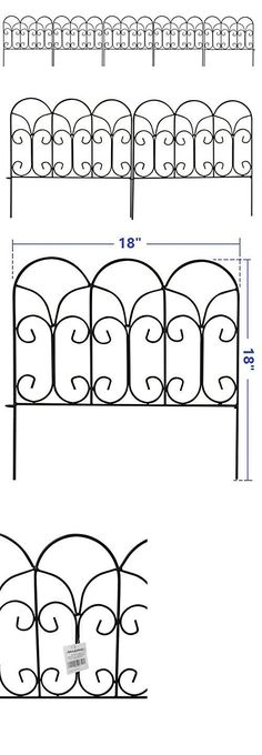 Edging and Borders 161008: Victorian Resin Garden Fence (12-Pack ...