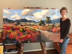 I love working on these larger canvases. Serenity x is on its way to a collector in Indiana. Abstract Landscape Painting, Landscape Art, Landscape Paintings, Abstract Art, Paintings I Love, Nature Paintings, Art Paintings, Painting Inspiration, Art Inspo