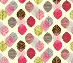 Linear leaves, amel24 shop on Spoonflower © 2011 Copyright Amy King