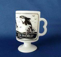 Sea World Opal Pedestal Mug by WeBGlass on Etsy