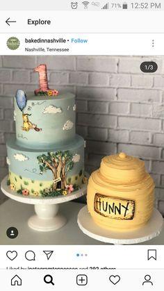 Winnie The Pooh Cake BakedInNashville Birthday First Theme Girl