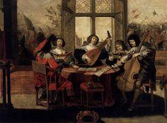 1635 Abraham Bosse - The Five Senses (Hearing)