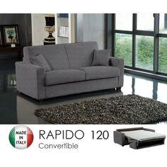 Canapé RAPIDO 2-3 Places DREAMER Convertible li… - Achat / Vente canapé - sofa - divan Polyuréthane, métal, acrylique, sapin massif, bois, contreplaqué, mdf, tissu, 100% polyester - Cdiscount Sofa, Couch, Polyester, Furniture, Home Decor, Metal Beds, Bed Frames, Storage Trunk, Fold Out Couch