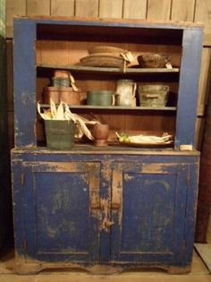 early blue cupboard.