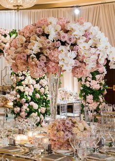 Luxury wedding centerpiece - Lin And Jirsa Photography #centerpiece #weddingflowers #weddings #weddingcenterpieces #bellethemagazine