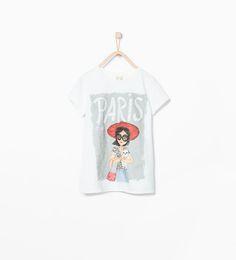 3f74cb4470 Image 1 of Shiny text dolls t-shirt from Zara Zara Kinder, Lily Clothing